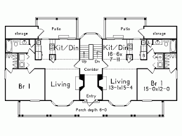 Multiplex Floor Plans Eplans Farmhouse House Plan Fantastic Four Unit Multiplex 1420