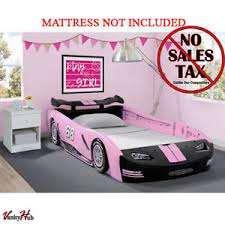 girls race car bed pink bedroom furniture kids toddler bed frame