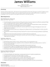 Server Resume Examples by 100 Banquet Server Resume Example Wonderful Design Ideas