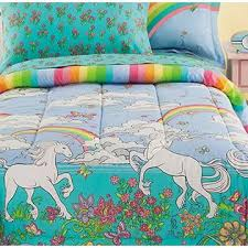 Unicorn Bed Set Tale Rainbows Unicorns Comforter Set 6