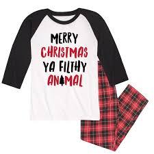 nap chat christmas pajamas mens merry christmas ya filthy