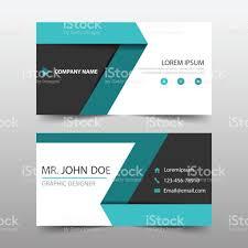 Flat Design Business Card Green Black Corporate Business Card Header Template Flat Design