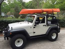 jeep kayak trailer looking for a cheap roof rack for kayaks jkowners com jeep