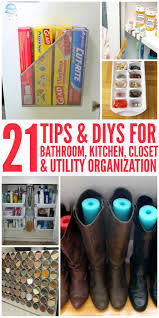 21 tips and diy organization ideas for the home