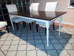 Ana White Dining Room Table by Ana White Two Toned Turned Leg Farmhouse Table Diy Projects
