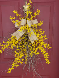 twig door swags forsythia door swag swags door