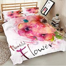 Pink Rose Duvet Cover Set Aliexpress Com Buy Fleece Fabric 3d Pink Rose Bedding Bed Sheet