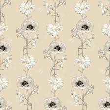 classic wallpaper seamless vintage flower vintage vector seamless pattern with hand drawn flowers retro floral