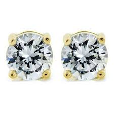 stud earrings 14k diamond simulated 2ct post stud earrings cate