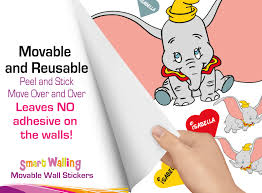 personalised dumbo wall stickers totally movable