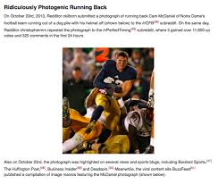 Know Your Meme Com - notre dame s ridiculously photogenic running back reflects on the