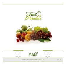 website template 12474 fruits paradise export custom website