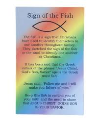 prayer card sign of the fish rainbow prayer card theactsstore
