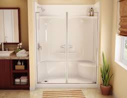 Shower Stall Bathtub Bathroom Outstanding Install Fiberglass Tub Shower Combo 75 Walk