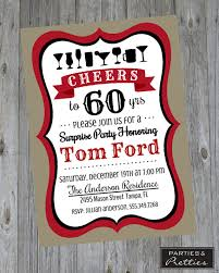 60th birthday party invitation cheers to 60 years surprise