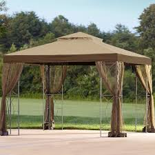 For Living Gazebo Cover by Kmart Essential Garden 10x10 Arrow Gazebo Replacement Canopy