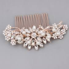 wedding hair combs gold bridal hair accessories pearl hair comb melinda