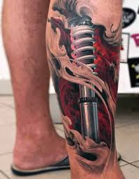 biomechanical tattoo for knee 80 3d tattoos for men three dimensional illusion ink