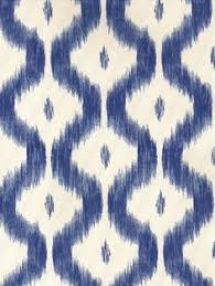 bari ikat wallpaper in blue from the caravan collection