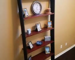 leaning bookshelf etsy