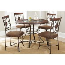 Round Dining Room Set Steve Silver 5 Piece Tournament Dining Game Table Set With Caster