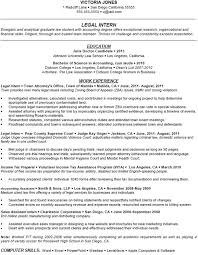 Resume For Summer Internship Tax Attorney Cover Letter