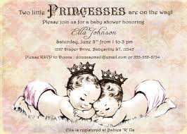 Invitation Cards For Baby Shower Templates Twin Baby Shower Invitations Kawaiitheo Com