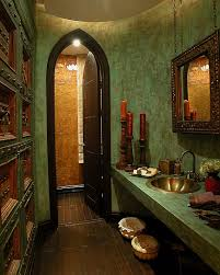 bathroom narrow bathroom features classic moroccan style with rich