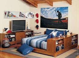 couleur de chambre ado garcon design interieur chambre ado garçon bleu rayures linge lit