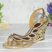 Rhinestone Flat Sandals Wedding Online Get Cheap 2 Wedge Sandals Aliexpress Com Alibaba Group