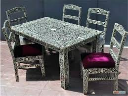 inlaid dining table and chairs inlaid dining table and chairs inlay bone and white metal furniture