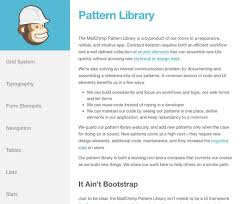 pattern library mailchimp help to improve the 7 pattern library on your web development skills