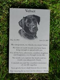 pet memorials your pets photo engraved on a pet memorial headstone marker