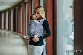Denim Blue by Baby Wrap Jacquard Weave 100 Cotton Denim Blue Size L