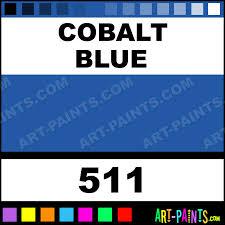 cobalt blue artist acrylic paints 511 cobalt blue paint