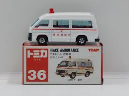 tomica toyota hilux 1 66 hiace ambulance white made in japan tomica 36 ebay