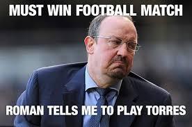 Torres Meme - funny premier league manager memes rafa benitez arsene wenger
