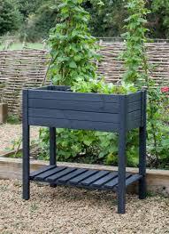 Outdoor Pots And Planters by Outdoor Pots U0026 Planters Metal And Wooden Industrial Garden