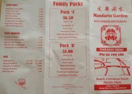Family Garden Menu - menu pt 1 picture of mandarin garden pacific pines tripadvisor