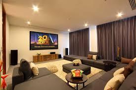 imposing home cinema interior design of minimalist mediterranean