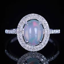 natural white opal elegant photograph of white opal engagement rings ring ideas