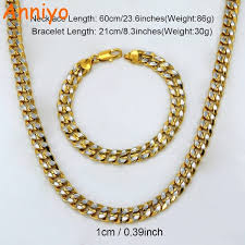 copper colored chain necklace images Two tone chunky necklace bracelets set mix gold color copper jpg