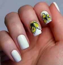 yellow nail art nail art