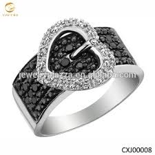 girls rings beautiful images Beautiful design girls 39 silver ring silver heart design belt rings jpg