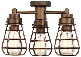 industrial style ceiling fan with light bendlin industrial oil rubbed bronze ceiling fan light kit