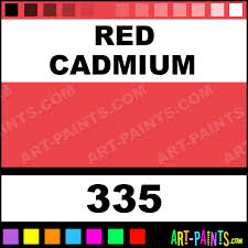 red cadmium fragonard watercolor paints 335 red cadmium paint