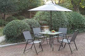 Folding Patio Set With Umbrella 6 Pc Liz Kona Collection