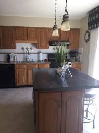 gray kitchen paint with oak cabinets gray painted oak cabinets and kitchen makeover tuesday