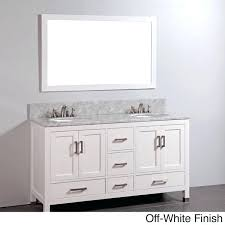 white bathroom vanity with marble top u2013 renaysha