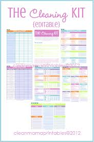 House Cleaning List Template 31 Days To A Clean House Archives Clean Mama Cleaning